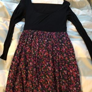 Floral long sleeve Forever 21 dress